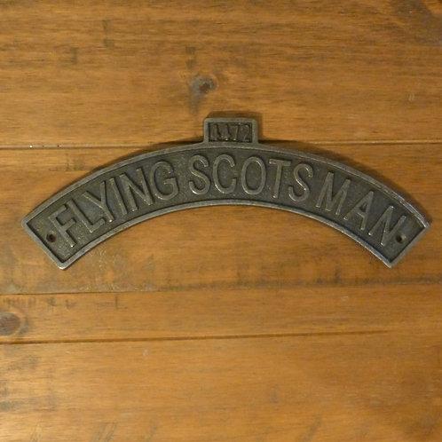 Flying Scotsman - Cast Iron Plaque