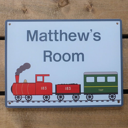 Steam Train - Personalised Name Sign