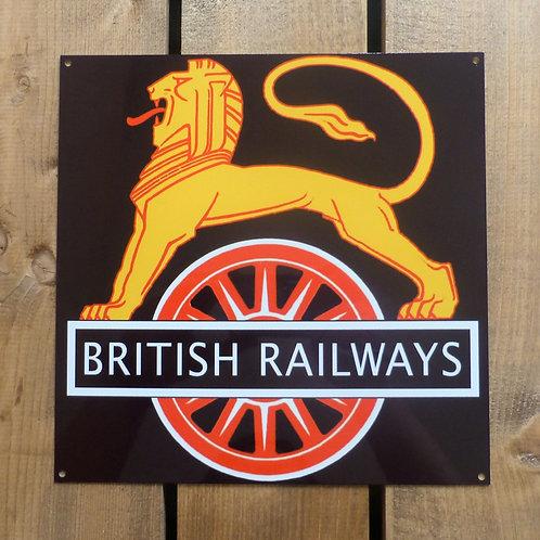 British Railways Cycling Lion - Metal Sign