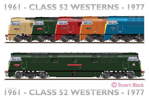 Class 52 Westerns - Art Print