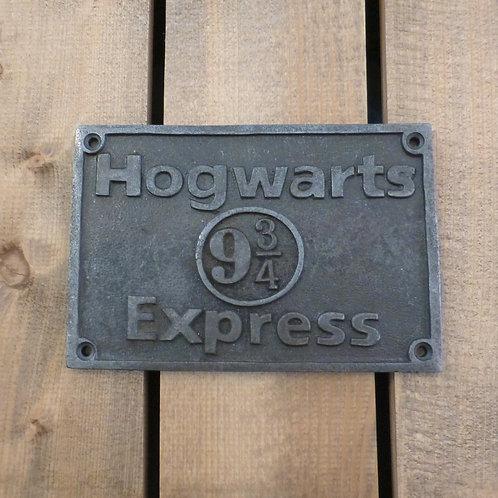 Hogwarts Express - Cast Iron Plaque