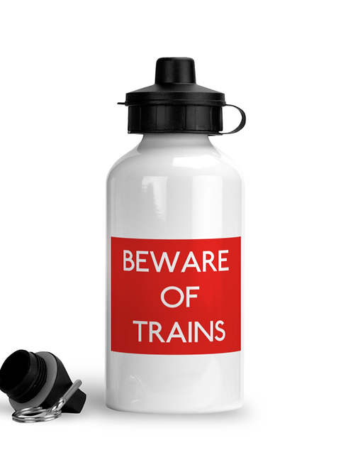 Beware of Trains - Sports Water Bottle