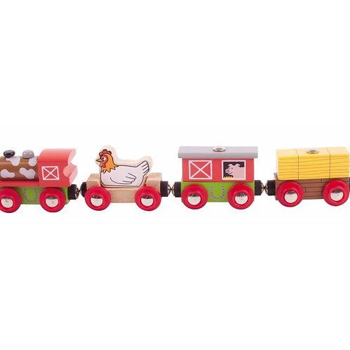 Big Jigs Farmyard Train - Toys