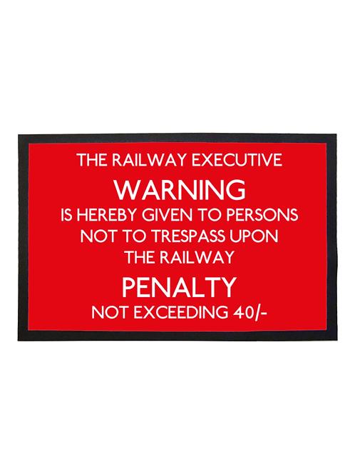 Railway Executive Warning - Doormat