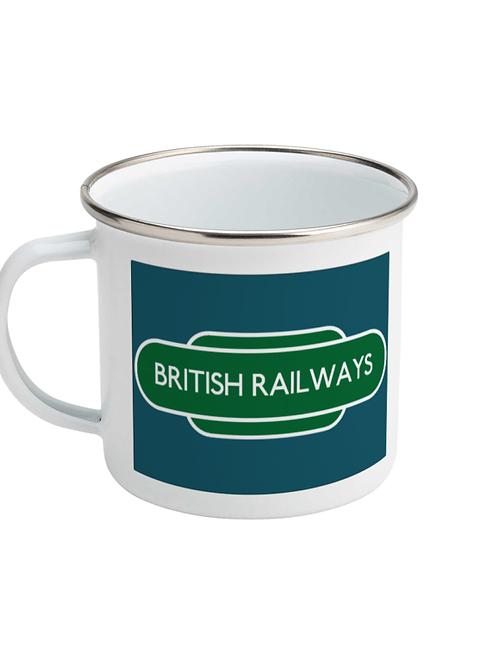 British Railways Totem - Enamel Mug