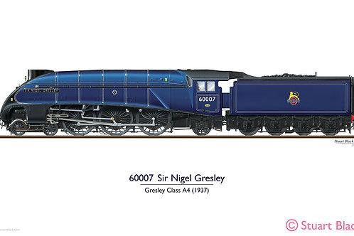 60007 'Sir Nigel Gresley' Locomotive - Art Print