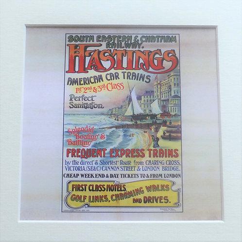 Hastings Express Trains SE & CR - Art Print