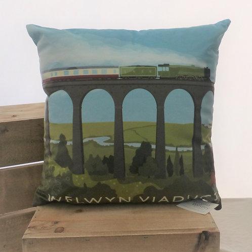 Welwyn Viaduct Flying Scotsman - Cushion