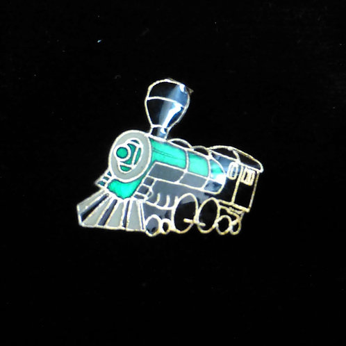Wild West Steam Locomotive (Turquoise) - Badge