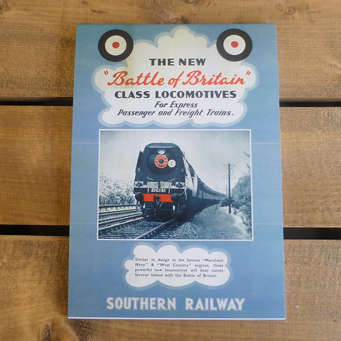 Battle of Britain Locomotives - A5 Notepad