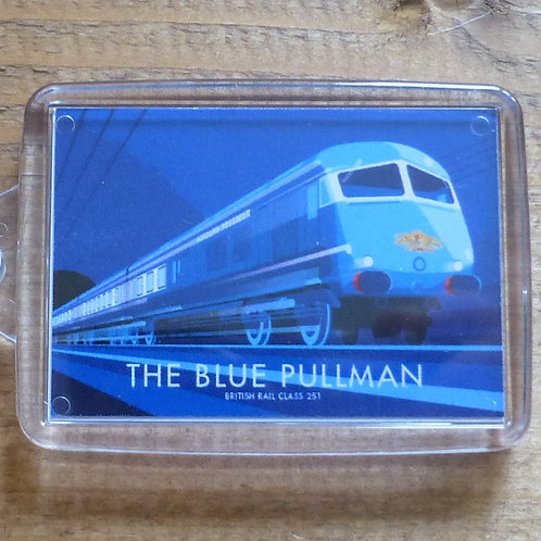 The Blue Pullman Locomotive - Keyring