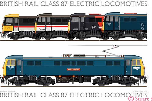 British Rail Class 87 Locomotives - Art Print