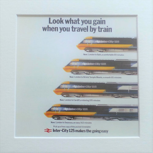 Look What You Gain When You Travel By Train - Art Print