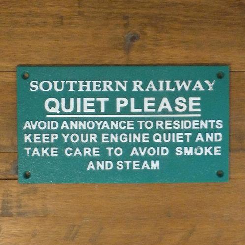 Southern Railway Quiet Please - Cast Iron Plaque