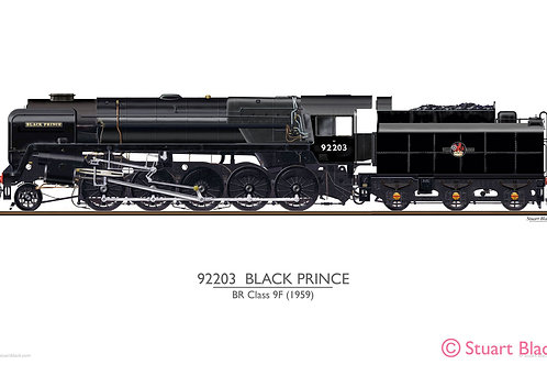 92203 'Black Prince' Locomotive - Art Print