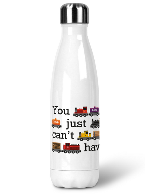 You Just Can't Have Too Many Trains - Stainless Steel Water Bottle