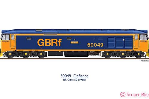50049 'Defiance' Locomotive - Art Print