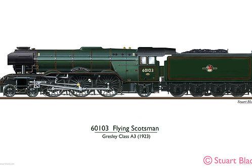 60103 'Flying Scotsman' Locomotive - Art Print