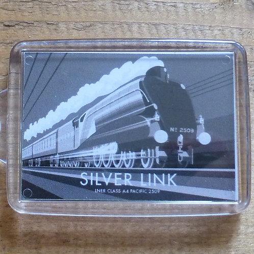 Silver Link Locomotive - Keyring