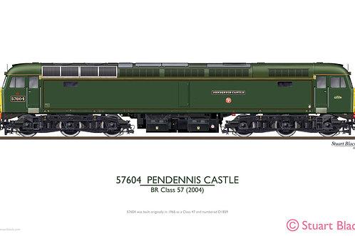 57604 'Pendennis Castle' Locomotive - Art Print