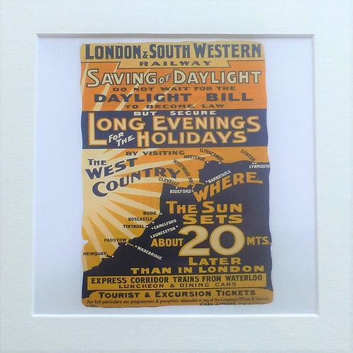 Saving of Daylight  L&SWR - Art Print