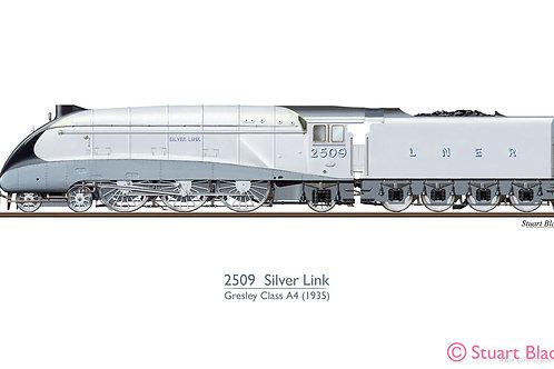 2509 'Silver Link' Locomotive - Art Print
