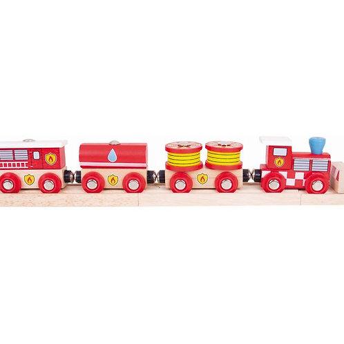 Big Jigs Fire & Rescue Train - Toys