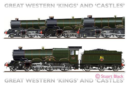 Great Western 'Kings & Castles' - Art Print
