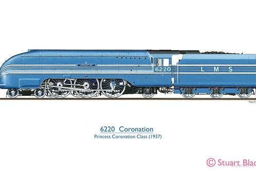 6220 'Coronation' Locomotive - Art Print