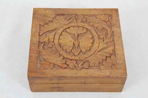 Indian Decorative Carved Trinket Box (medium)