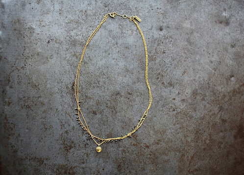 Mai Gold Necklace with Pyrite Stones