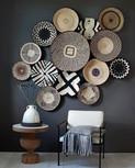 Woven Baskets on Dark Grey Wall