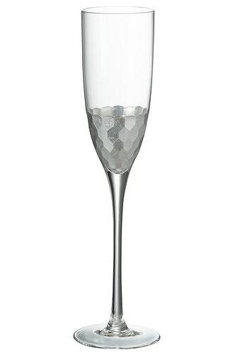 Silver Champagne Glass
