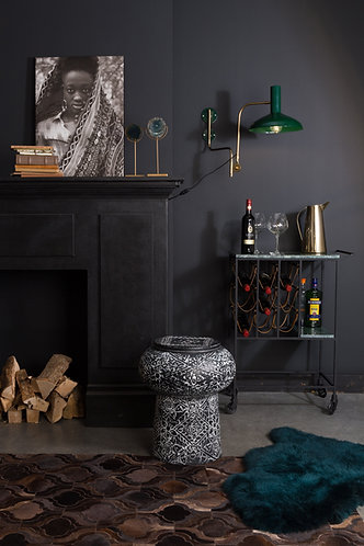 Iron Drum Deco Side Table Craft