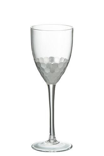 Silver White Wine Glass