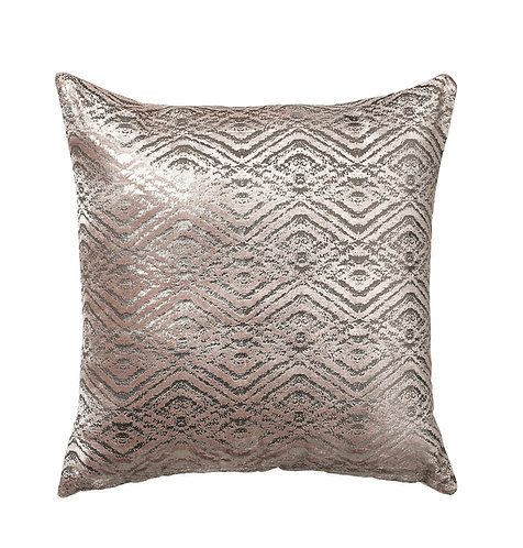 Cushion Opulence Geo Foil Mink