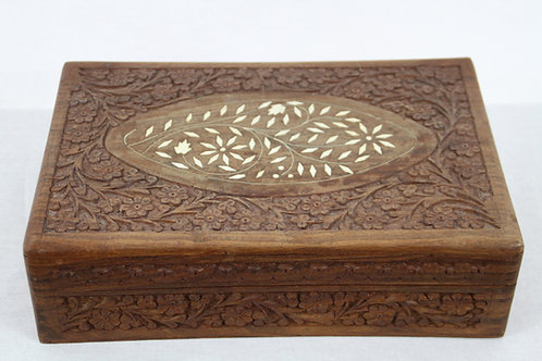 Indian Decorative Carved Trinket Box (large)