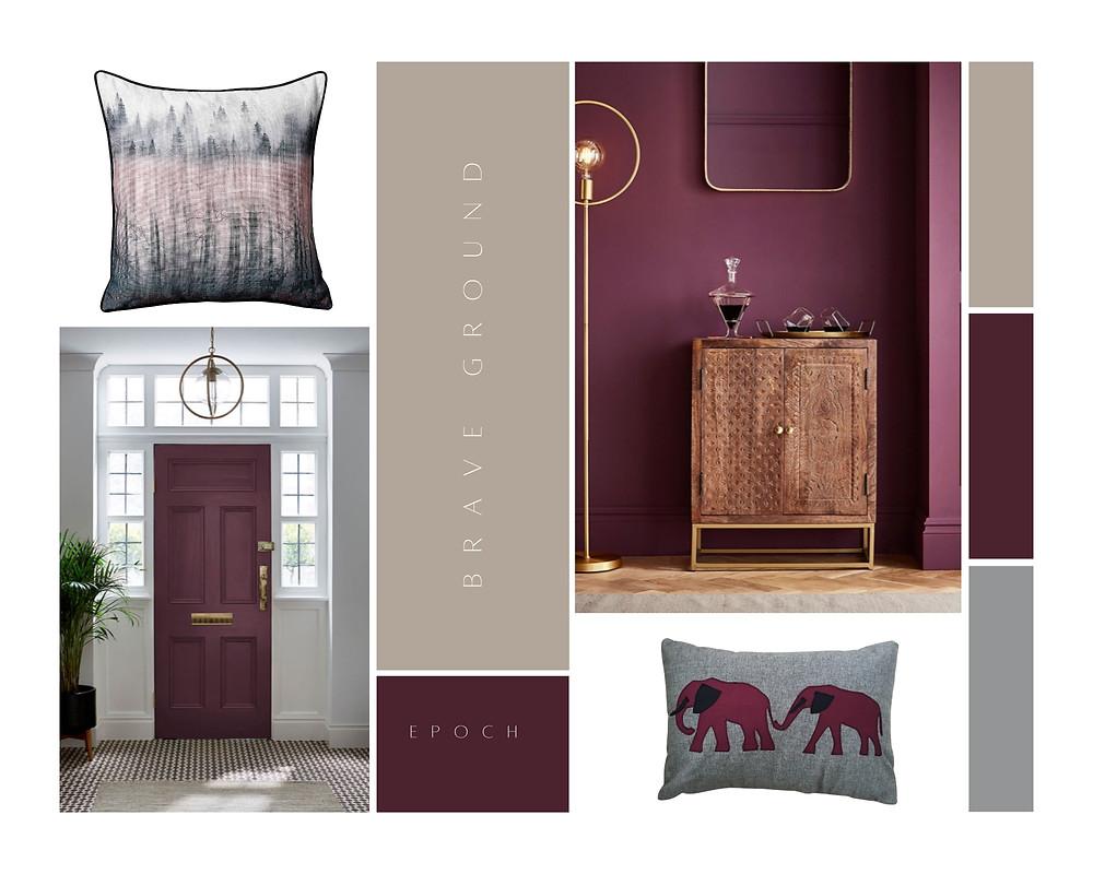 Grey elephant and nature cushions