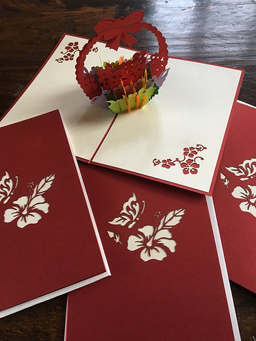 Collage of Pop-Up Card Flower