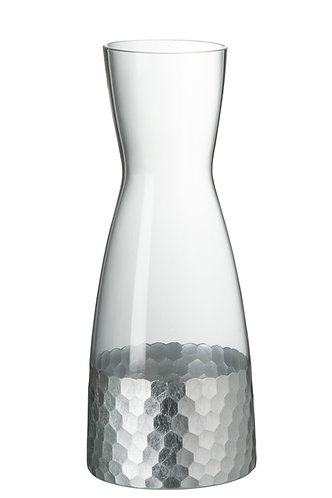 Silver Glass Decanter