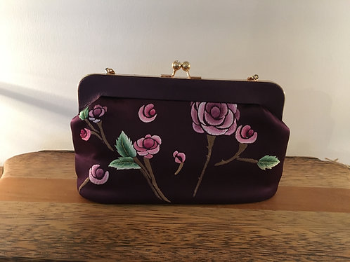 Chinese Artisan Silk Embroidered Clutch Bag