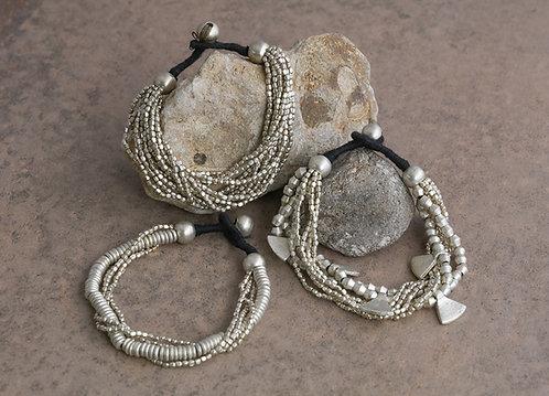 Batala Silver Bracelet Triangles