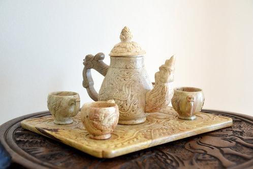 Asian Marble/Stone Tea Set