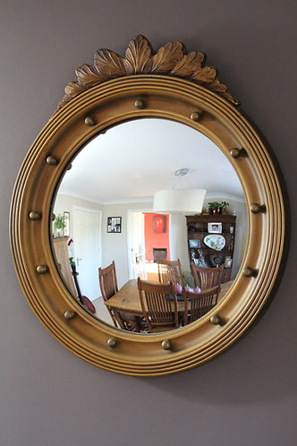 Vintage Gilt Frame Convex Mirror
