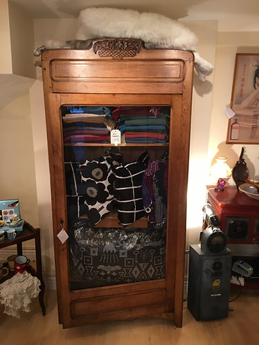 Antique Oak Linen Cupboard