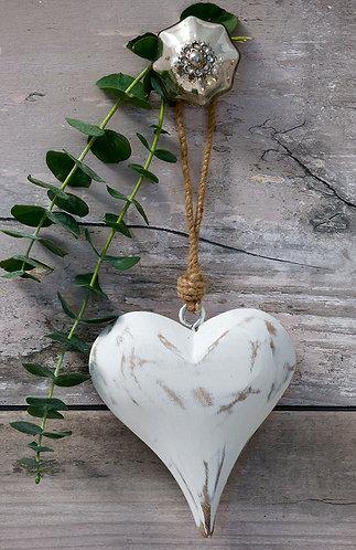 Vintage White Heart