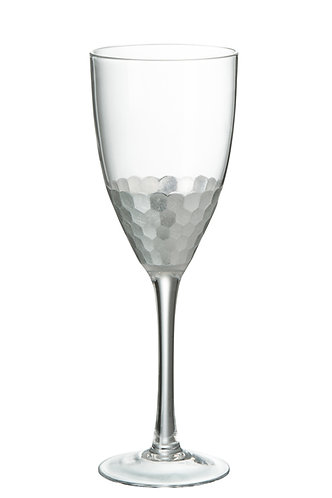 Silver Red Wine Glass