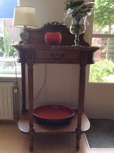 Antique Half-Moon Console Table