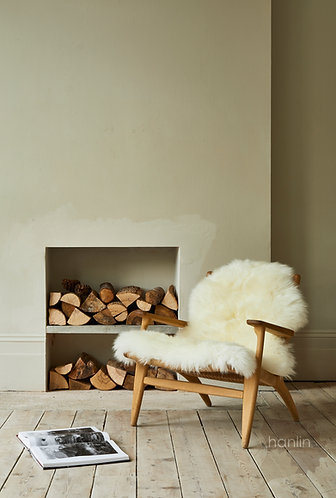 Ivory Sheepskin on Chair