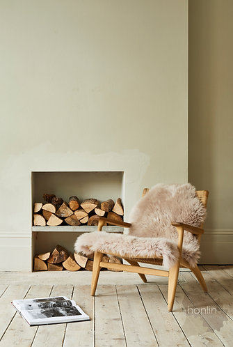 Oyster Sheepskin on Chair